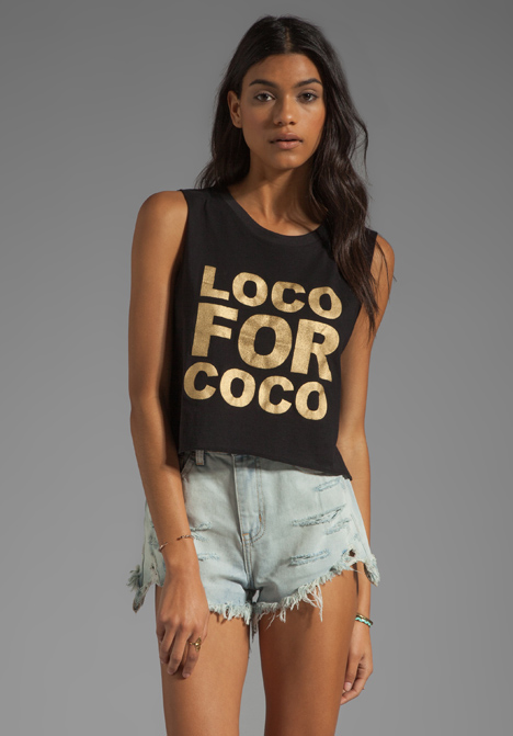 THIS IS A LOVE SONG Loco For Coco Tee in Black - This is a Love Song