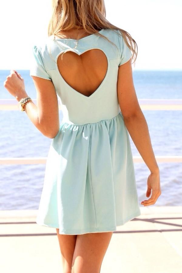 dress light blue blue dress summer dress heart heart cutout cut-out summer outfits