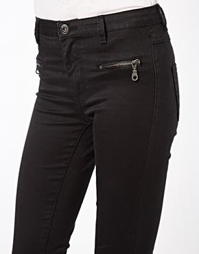 Vila | Vila Cleavo Black Jeans With Pocket Zipper at ASOS