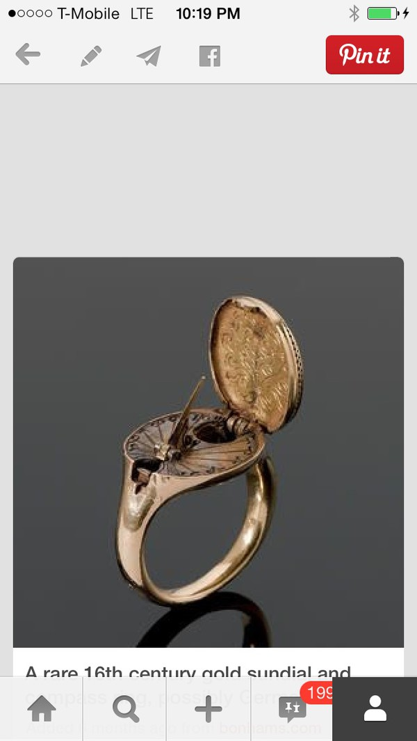 jewels ring gold compass