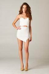 Kimberly Asymmetrical Dress In White – Huria Boutique