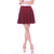 Burgundy Wine Red Skater Skirt
