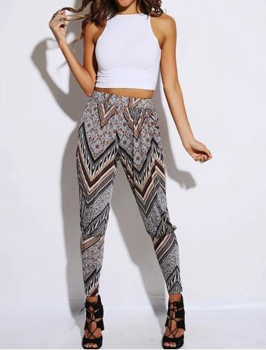 Grey Chevron Harem Pants | Clothing | Womens Clothing, Shoes, Jewelry & Plus Sizes | B. De'Lish