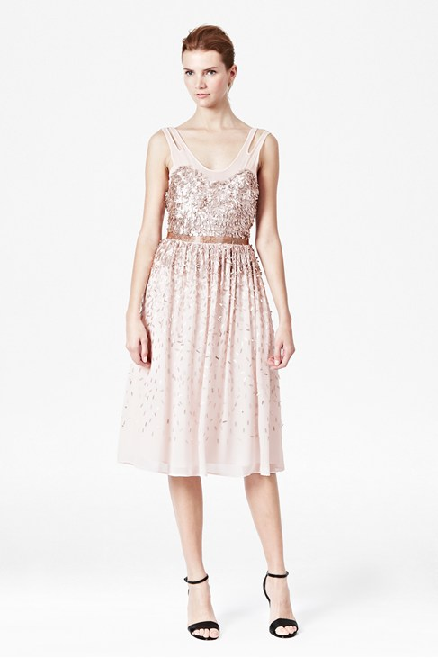 Shimmer Shower Midi Dress - Dresses - French Connection Usa