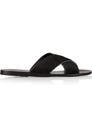 Ancient Greek Sandals|Thais calf hair sandals|NET-A-PORTER.COM