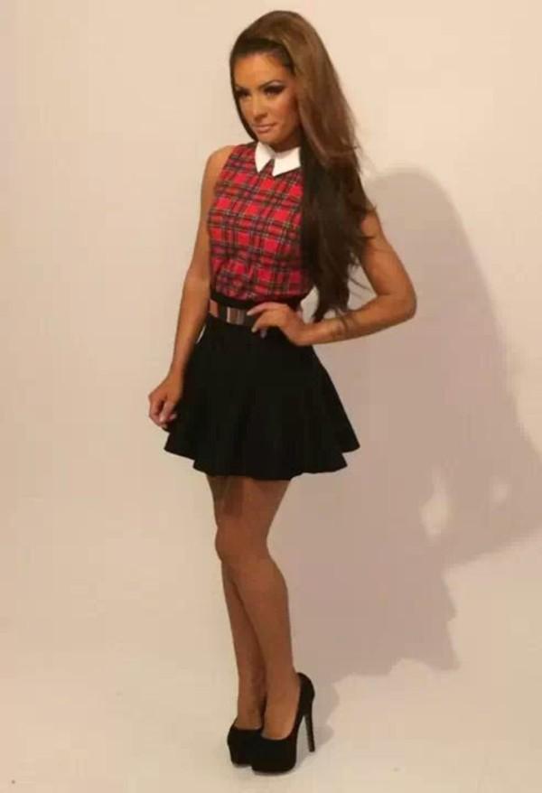 dress tartan skirt