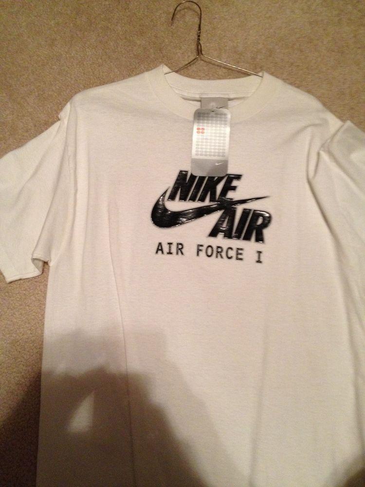 Nike Air Force 1 AF1 Basketball T Shirt Mens M L XL Black and White | eBay