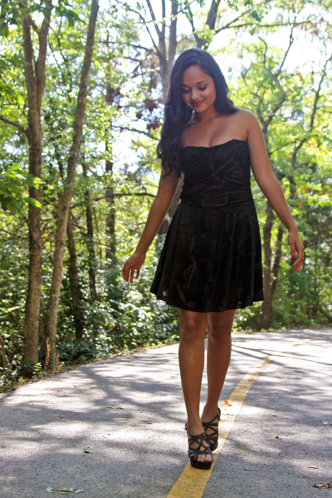 Cute Little Black Dress, Strapless Black Mini, Black Velvet Mini Dress - METROmorphos