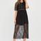 Trend spotter sheer lace maxi dress black - gojane.com