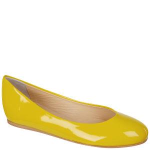 Just Ballerinas Women's Patent Ballerina Pumps  - Yellow Womens Footwear - FREE UK Delivery
