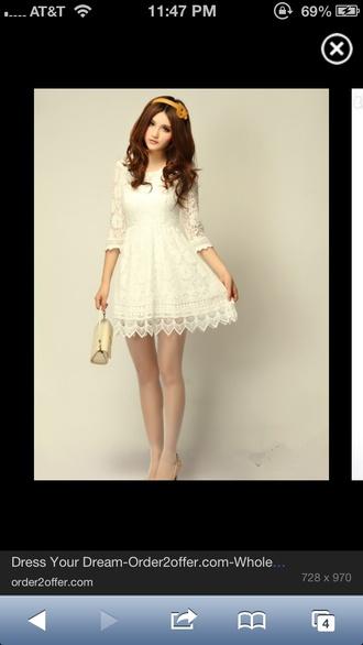 dress whitney port lace white