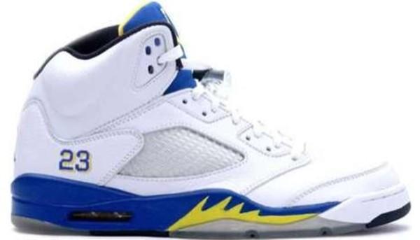 shoes jordans white blue yellow