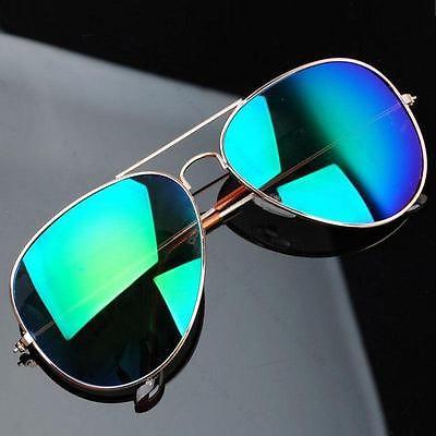 Vintage HOT Sunglasses Fashion Unisex Retro Womens Mens Aviator Mirror Lens 80s | eBay
