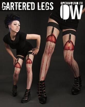 tights openwound socks overknee overknee socks halloween