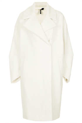Oversized Textured Throw Coat - Topshop