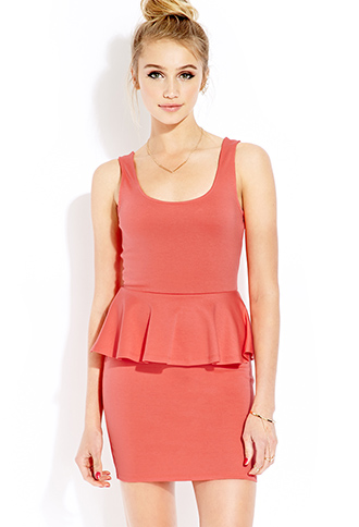 Posh Peplum Dress | FOREVER21 - 2000126319