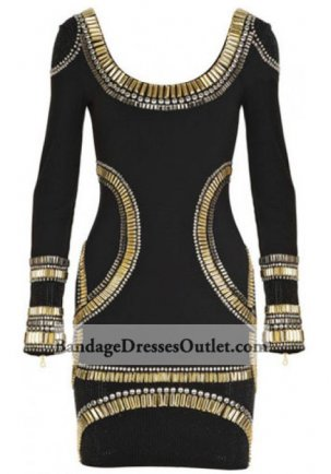Discounted Sequined Long Sleeves Banded Dress Black [Sequined Long Sleeves Black] - $152.00 : Cheap Bandage Dresses Online, Wholesale Price Bandage Dresses Outlet