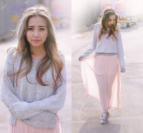 sweater maxi skirt skirt