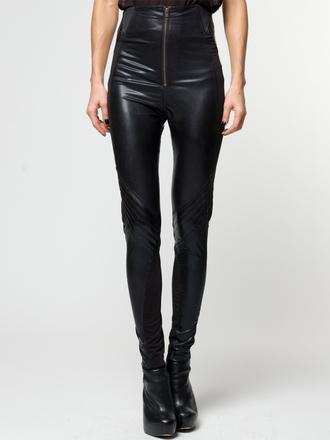 pants wetlook leggings jeggings skinny high waisted black trendy religion