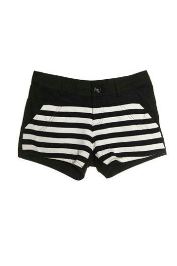 White Straps Cotton Shorts [FJCE0016]- US$ 66.99 - PersunMall.com