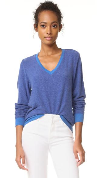 sweater fashion clothes wildfox baggy beach v sweatshirt