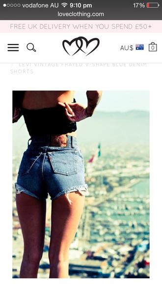 shorts denim vintage levis