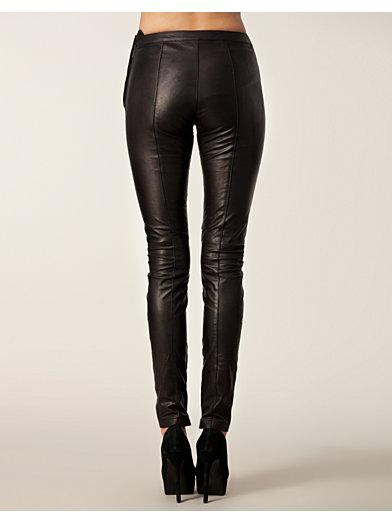 Sabrina Leather Pants - Selected Femme - Sort - Bukser & Shorts - Tøj - Kvinde - Nelly.com