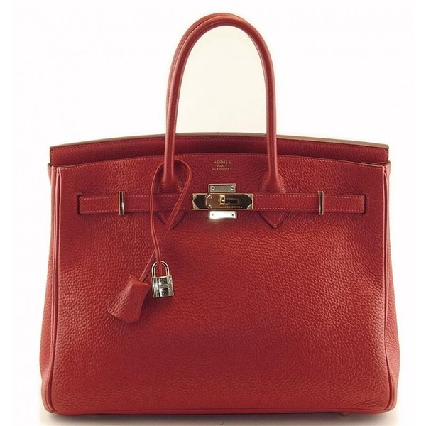 Hermes Birkin Bag In Red Leather as seen on Fergie - Hermès - Polyvore