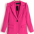 Fusia Suit Collar Long Sleeve Plain Fitted Jacket : KissChic.com