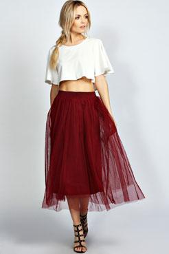 Colette A Line Midi Skirt at boohoo.com