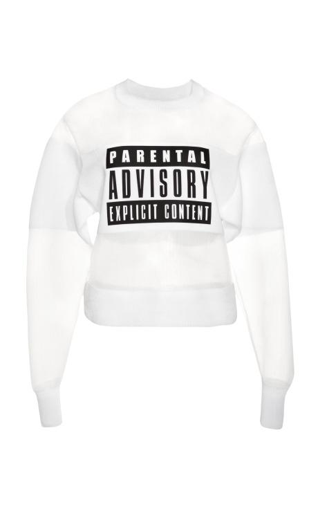 Parental Advisory Sweatshirt by Alexander Wang for Preorder on Moda Operandi