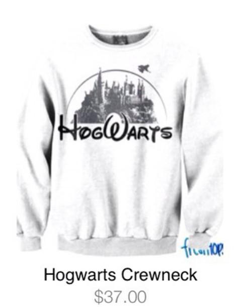 sweater hogwarts white disney
