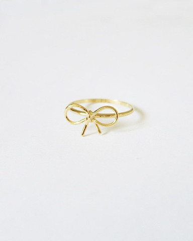 louun — Simple Bow Knuckle Ring