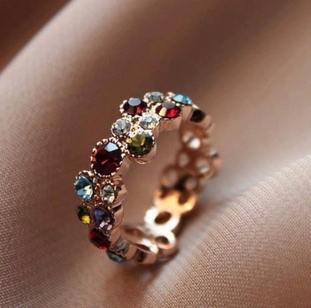 jewels multicolour jewel ring ring