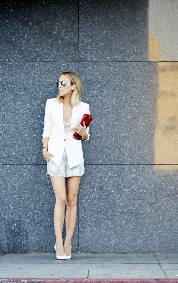 damsel in dior shorts shoes jacket jewels sunglasses