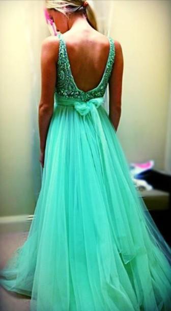 dress sherri hill green dress prom dress prom gown evening dress backless dress long prom dress long dress