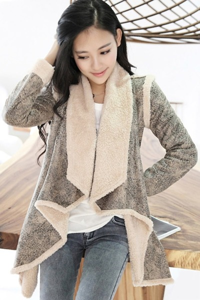 Cool Girl Open Front Suede Coat by Oasap | Chictopia