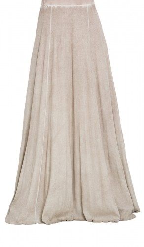 Ombre Stretch Cotton Flared Long Skirt | Islamic Long Maxi Skirts for Women | Islamic Clothing at Artizara.com