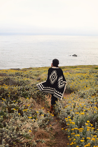 fresh fizzle blogger poncho native american tribal sweater