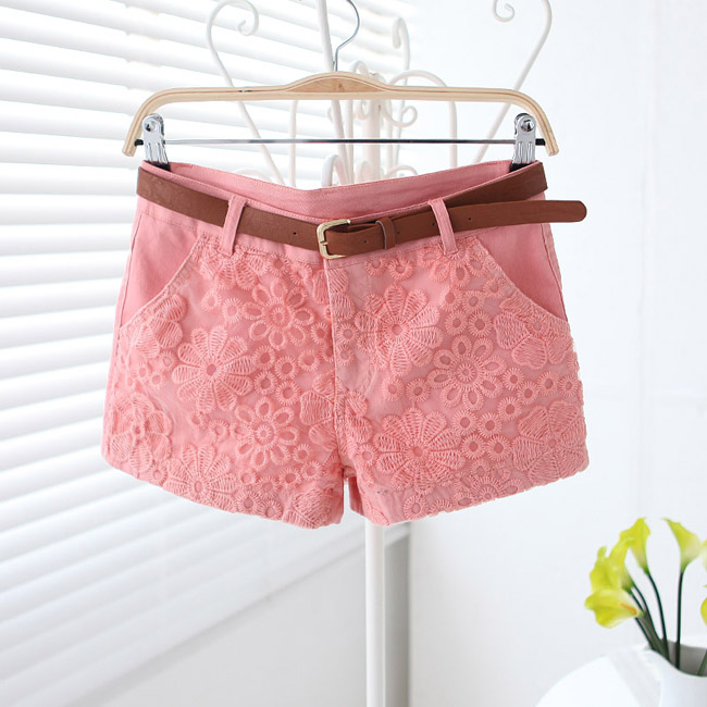 Sweet Lace Embroidery Summer Shorts, Lace Embroidery Shorts, Lace Shorts, Short on Luulla