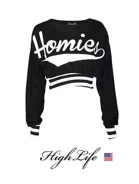 2013 New Fashion autumn summer Homies Long sleeve Crop tops Sweatershirt Harajuku Dope shirt-in Hoodies & Sweatshirts from Apparel & Accessories on Aliexpress.com