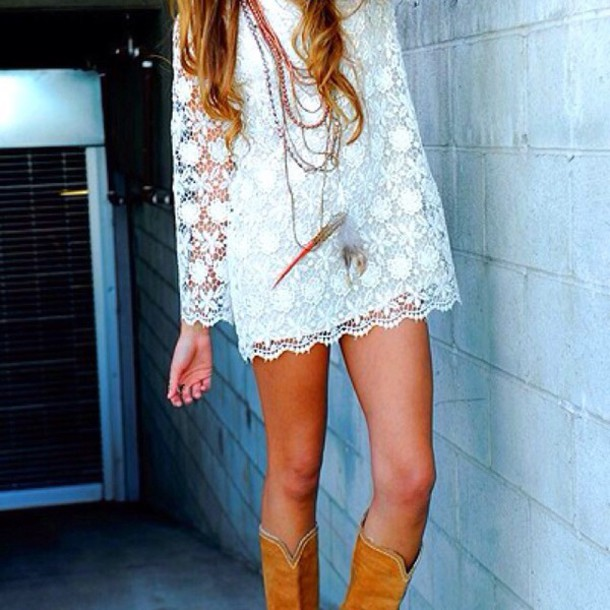 dress lace dress long sleeve dress
