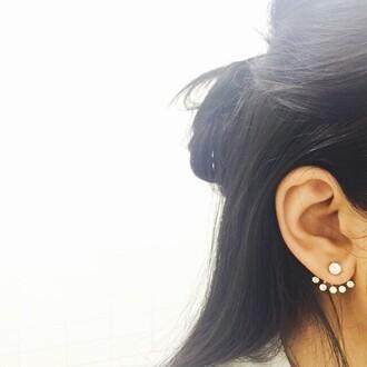 jewels wanderlust + co earrings diamonds ear cuff cute ear cuff statement earrings