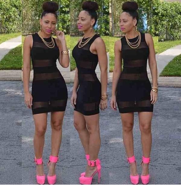 dress black black dress short dress