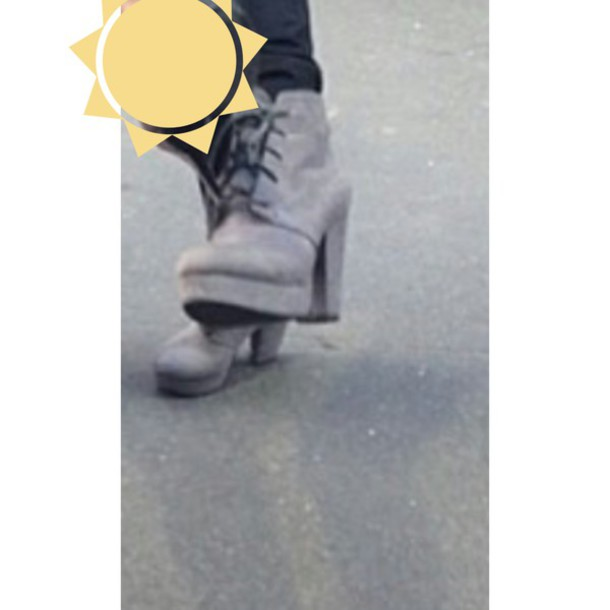 shoes grey heels boots booties laces gray booties high heel booties grey booties