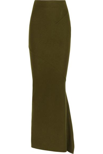 Haider Ackermann Sloane boiled stretch-wool maxi skirt NET-A-PORTER.COM