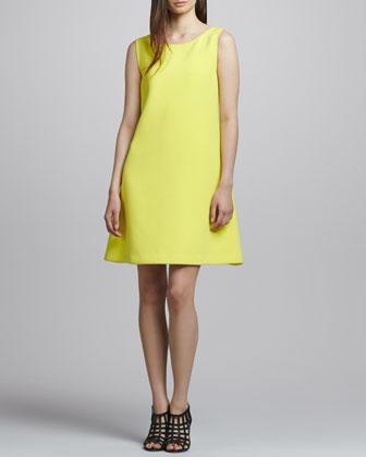 Rebecca Minkoff Kirk Low-Back Crepe Dress - Neiman Marcus