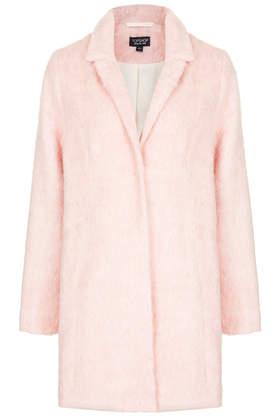 Fluffy Swing Coat - Boyfriend & Cocoon Coats - Jackets & Coats  - Clothing - Topshop