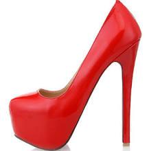 Charming Red Spike Heel PU Leather Woman's Platform Pumps