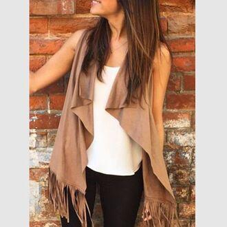 jacket vest waistcoat veste fringes